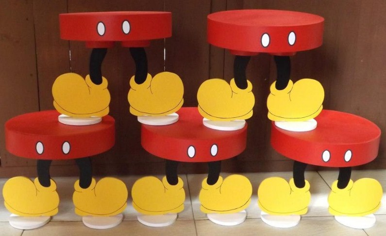 Laser Cut Mickey Mouse Cupcake Stand Free Vector