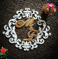 Laser Cut Decor Monogram Free Vector