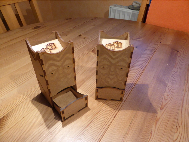 Laser Cut Dice Tower 150×70 DXF File