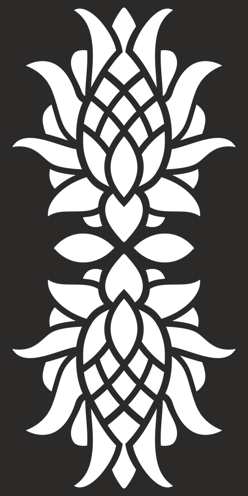 Floral Privacy Screen Pattern for CNC Laser Cut Free Vector
