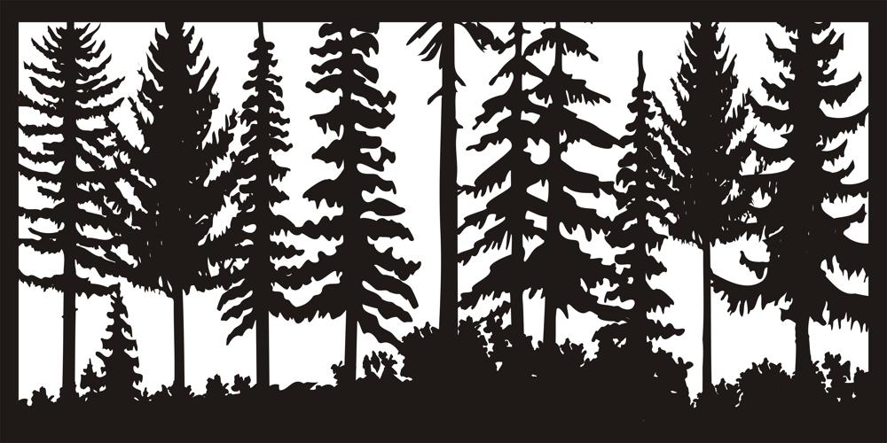 24 X 48 Just Trees Plasma Art DXF File