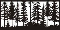24 X 48 Just Trees Plasma Art DXF File
