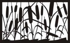 30 X 48 John Cattails Plasma Metal Art DXF File
