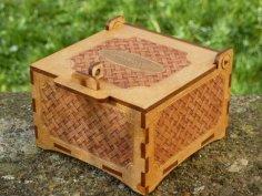 Laser Cut Basket Box Free Vector