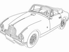 Aston Car dxf File