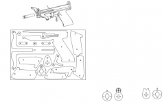 working crossbow dxf File