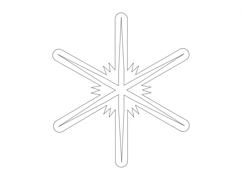 Snowflakes Silhouette Vector dxf File
