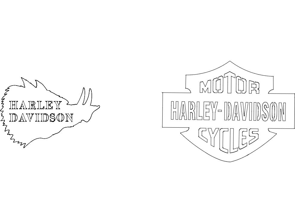 Harley Davidson dxf File