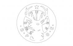 Elks Logo dxf File