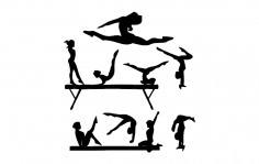 Gym Silhouette dxf File