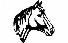 Horse Head 2 dxf File
