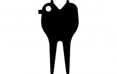 Divot Tool dxf File