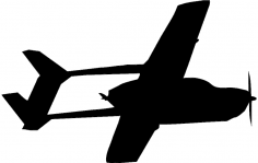 Cessna fying trace dxf File