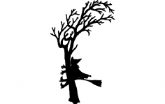 Witch Crash Silhouette dxf File