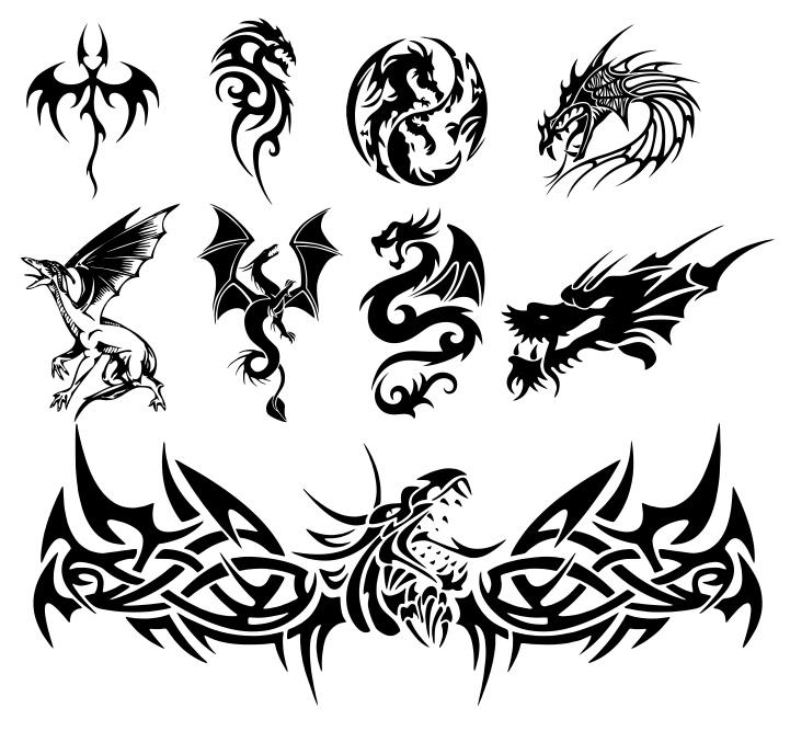 Dragon Tattoo Vectors