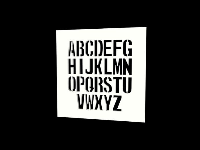 Monospaced Stencil Font DXF File
