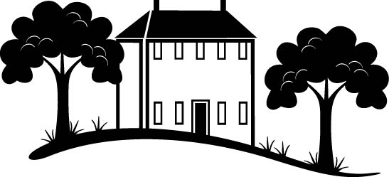 Building Surrounded by Trees Free Vector