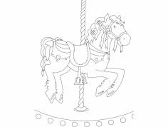 Cavalo De Carrocel dxf File