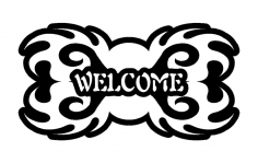 Welcome Design dxf File