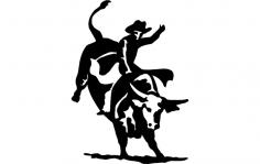 Bull Rider 2 dxf File