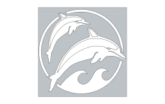Dolphins dxf File