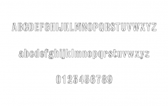 Army stencil-font dxf File