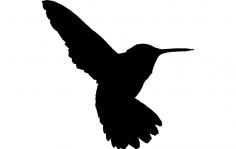 Humming Bird dxf File