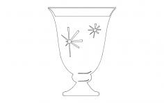 Fancy Shot glass dxf File