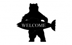 Welcome Bear dxf File
