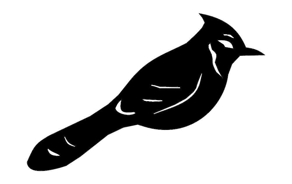 Bird Bluejay dxf File