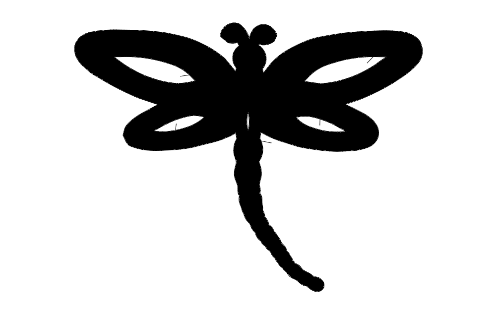 Dragonfly Single  dxf File