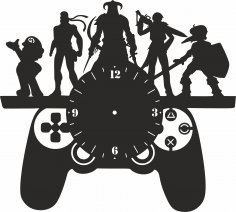 Playstation Wall Clock Vinyl Record Free Vector