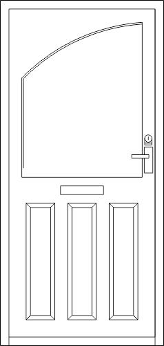 Wooden Door DWG File