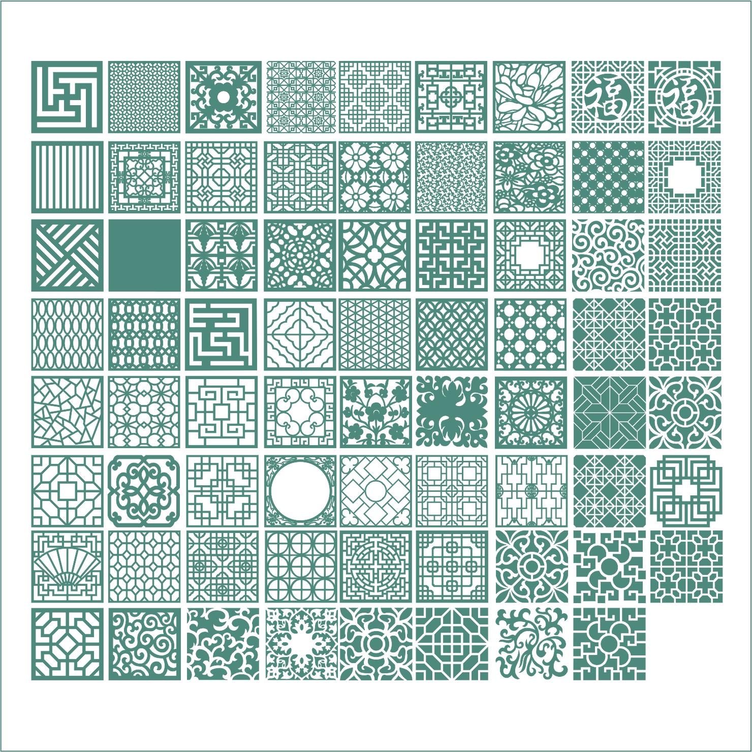 Square Ornaments Vectors Free Vector