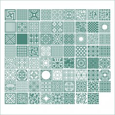 Square Ornaments Vectors