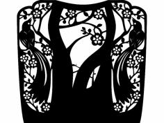 каминная решетка-птицы- для лазера dxf File