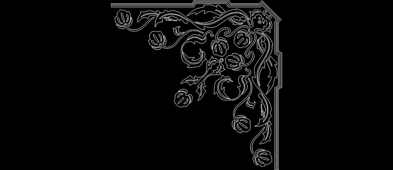 Corner Design 0817 dxf File