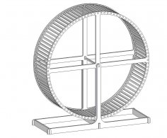 Hamster Wheel Puzzle Vectors dxf File