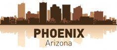 Phoenix Arizona skyline city silhouette vector Free Vector