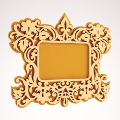 Wooden Mirror CNC Project DXF File