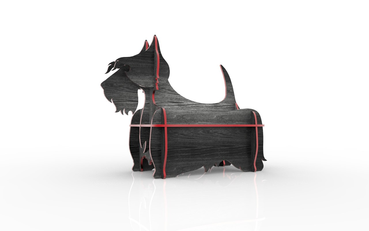 Scottish Terrier Mini Shelf dxf File