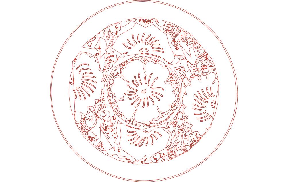 Ornamental Panel 228 dxf File