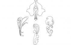 Design Flowers dxf File