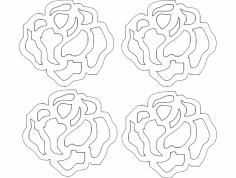 Rosa 21 P 29,94×27,39 dxf File