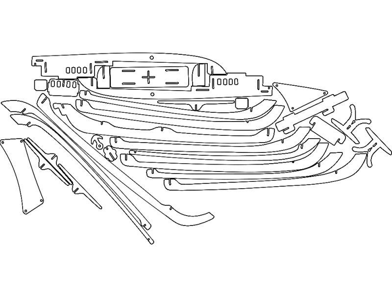Ship Set dxf File