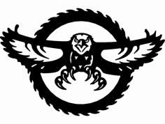 American Eagle Saw Blade dxf File