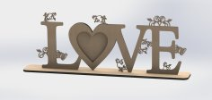 Love 3D Decoration Puzzle CNC Plans Free Vector