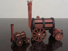 Stephenson's Rocket Laser Cut PDF File