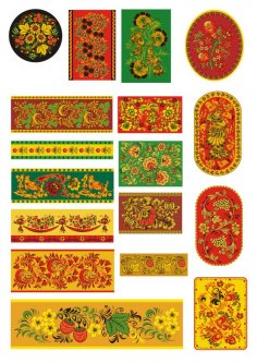 Khokhloma Russian Patterns