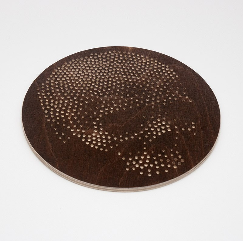Laser Cut Coasters Skull PDF File
